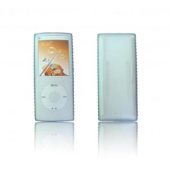 Protective silicone skin for iPod nano 4th gen (Clear - w/ detachable Armband)
