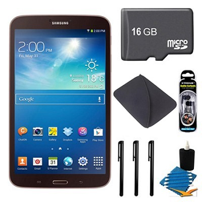 Galaxy Tab 3 (8-Inch, Gold-Brown) + 16GB Micro SDHC and More