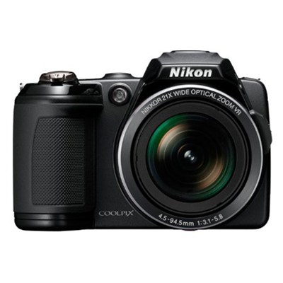 COOLPIX L120 14MP Black Digital Camera 21xOptical Zoom (Certified Refurbished)