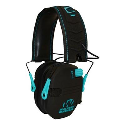 Razor Series Slim Lo Profile Ear Muffs Hearing Protection - Teal