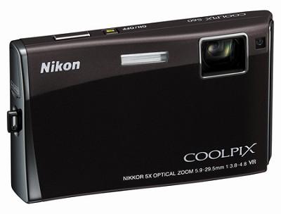 Coolpix S60 Digital Camera (Espresso Black)