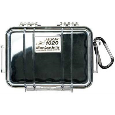 1020 Micro Case with Clear Lid and Carabineer (Black)