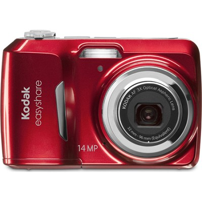 EasyShare C1530 14 MP Camera with 3x Optical Zoom and 3 Inch LCD (Red)- OPEN BOX