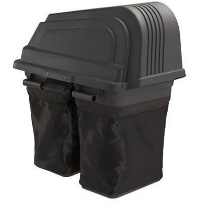 Soft-Sided 2-Bin Grass Bagger for Poulan Pro 46` Riding Mowers - OPEN BOX