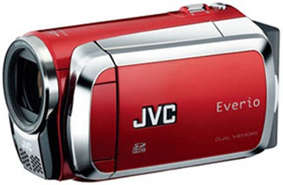 Everio GZ-MS120 Dual SD Card Camcorder - Red