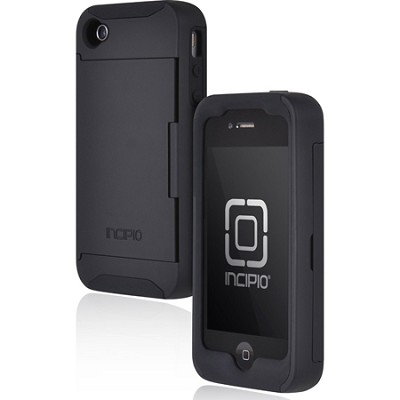 Stowaway Credit Card Case for iPhone 4/4S - Black