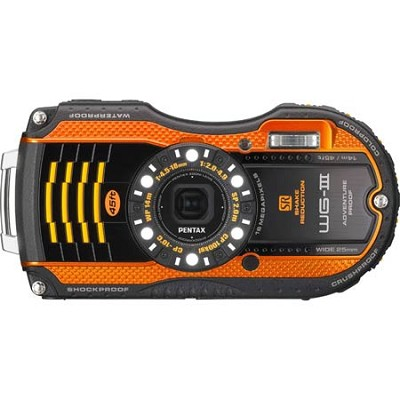 WG-3 16MP Orange Waterproof Shockproof Crushproof Digi Cam - OPEN BOX