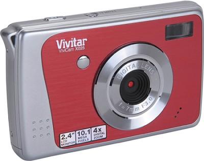 ViviCam X025 10.1 MP HD Digital Camera (Strawberry)