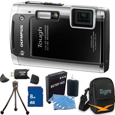 Tough TG-610 14MP Water/Shock/Freezeproof Digital Camera Black 8GB Kit