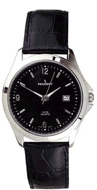 296BK Mens Classic Leather Watch