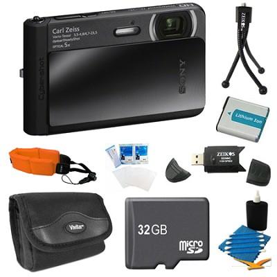 DSC-TX30/B Black Digital Camera 32GB Bundle