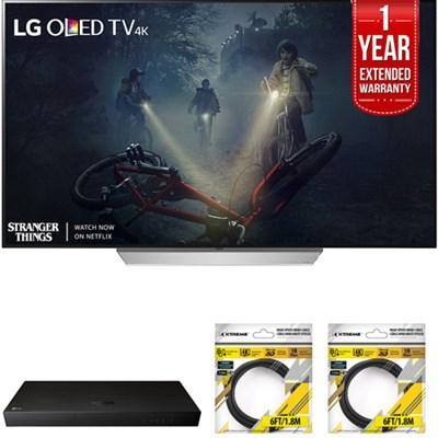 65` C7 OLED 4K HDR Smart TV 2017 Model with Warranty + Blu Ray Bundle
