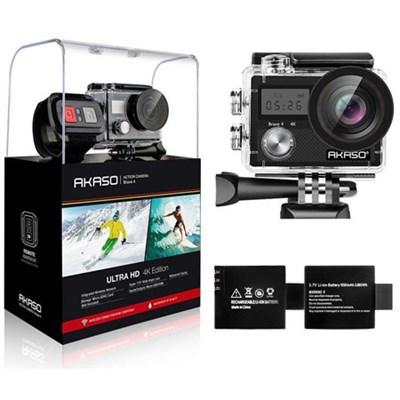 Brave 4 Sports Action Camera Full HD 4K 20MP WiFi Waterproof Camera (Black)