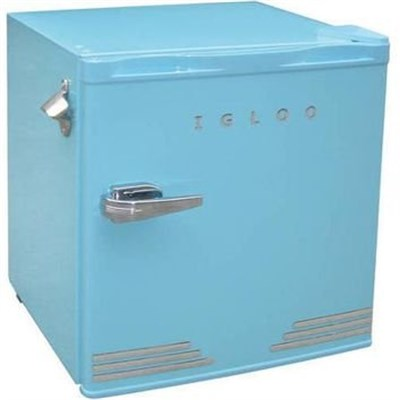 1.6 cu ft Retro Compact Refrigerator with Side Bottle Opener - Blue