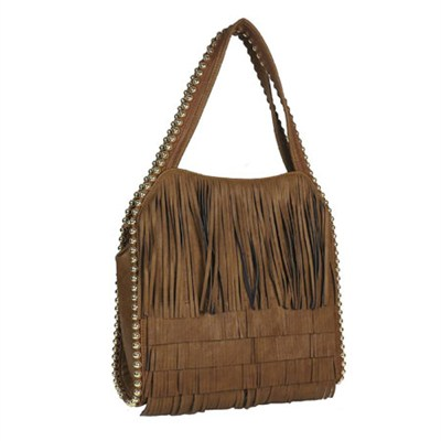 Gracie Fringed Shoulder Bag - Tobacco