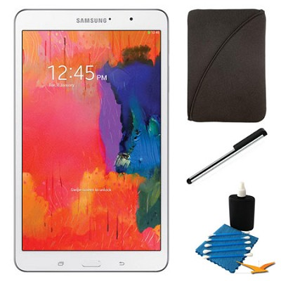 Galaxy Tab Pro 8.4` White 32GB Tablet and Case Bundle
