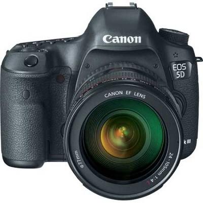 EOS 5D Mark III 22.3 MP Full Frame Digital SLR Camera 24-105mm f/4L IS Lens Kit
