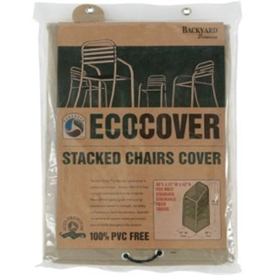 07309BB Eco-Cover PVC Free Premium Stacked Chairs Cover, 30`x27`x42`