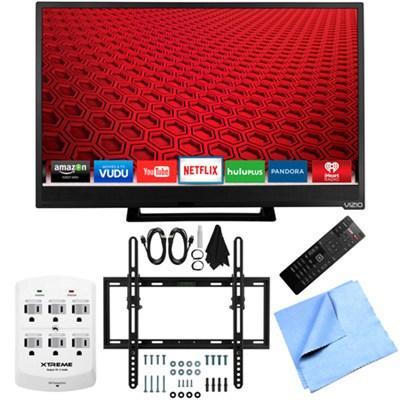 E24-C1 - 24-Inch 1080p 60Hz Smart LED HDTV Flat & Tilt Wall Mount Bundle