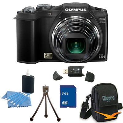 8 GB Kit SZ-31MR iHS 16MP 24X Opt Zoom 3 in LCD Camera - Black