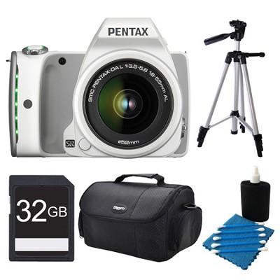 K-S1 White Digital SLR Camera with 18-55mm Lens 32GB Bundle