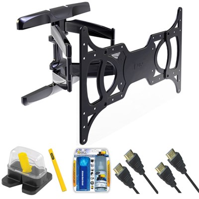 Large Full Motion TV Mount & Set Up Kit for 37`-65` TVs up to 100LB - TLX-220FM