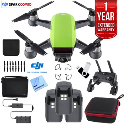 SPARK Fly More Drone Combo Meadow Green - CP.PT.000903 Triple Battery Bundle