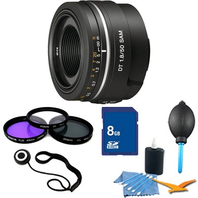 SAL50F18 - 50mm f/1.8 SAM DT Lens for Sony Alpha DSLR's Essentials Kit