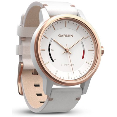 Vivomove Classic Activity Tracker - Rose Gold -Tone with Leather Band