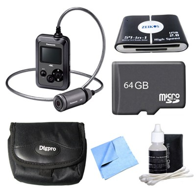 HX-A500H POV Wearable 4K Gray Camcorder 64GB Bundle