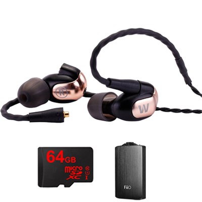 W50 Signature PPREMIUM In-Ear Monitor Noise Isolating Headphone w/ FiiO A3 Amp