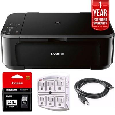 Wireless Inkjet Multifunction Printer w/ Genuine Canon Ink+Warranty Bundle
