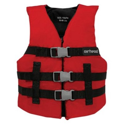 10002-02-A-RD  - Red Child 3-Belt Universal Life Vest  ( Child 30-50 lbs)