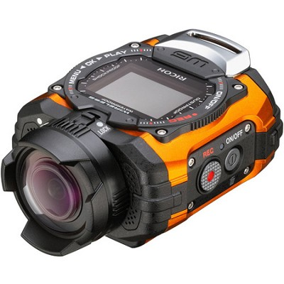 WG-M1 Compact Waterproof Action Digital Camera Kit - Orange