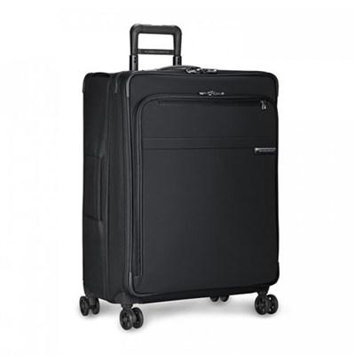 Baseline Collection 28` Large Expandable Luggage Spinner (Black) U128CXSP-4