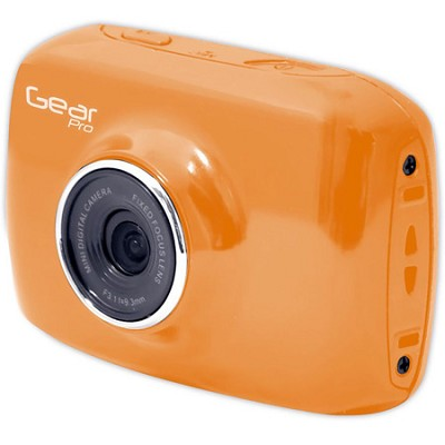 High-Definition Action Camera, 720p Wide-Angle Camcorder With 2.0 Screen- Orange