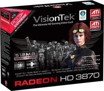 RADEON HD3870 PCIE 512MB 2PORT DVI-I/HDTV/HDMI/DUAL LINK 450W+ REQ