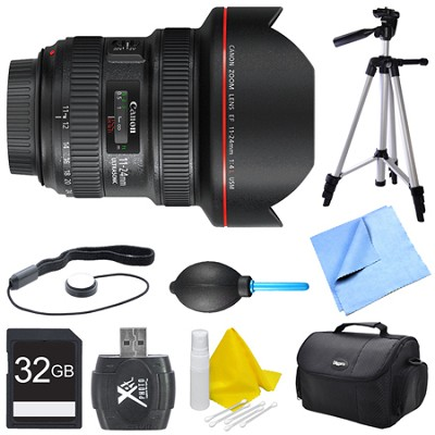 EF 11-24mm F/4L USM Ultra-Wide Angle Zoom Lens Bundle