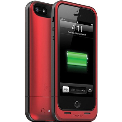 Juice Pack Helium Rechargeable 1500mAh Battery Case for iPhone 5 (Red)