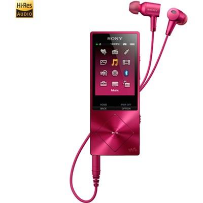 NWA26HN 32GB Hi-Res Walkman Digital Music Player with Noise Cancelation - Pink