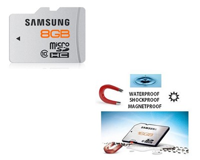 microSD Plus 8GB Class 10 Waterproof and Shockproof Memory Card