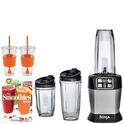 Auto-iQ Blender (BL482) w/ Tugo Cup Mug & Smoothies Bible