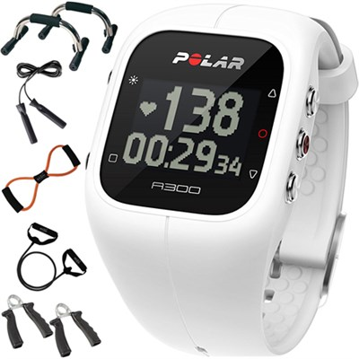 A300 Fitness Tracker and Activity Monitor, White + 7-in-1 Fitness Kit