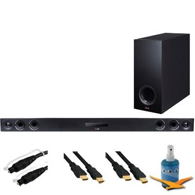 320W 4.1ch Smart Streaming Sound Bar w/ Wireless Subwoofer Hook-Up Bundle NB3740