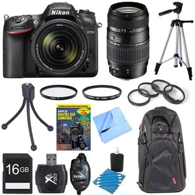 D7200 DX-format Black Digital SLR Camera w/ 18-140mm and 70-300mm Lens Bundle