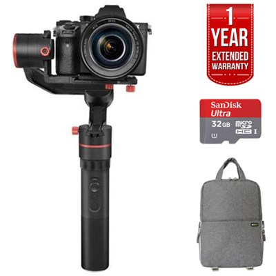 a1000 3-Axis Handheld Gimbal with Slanted Back Motor w/ SLR GO PACK Bundle