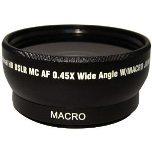 Pro .45x Wide Angle Lens w/ Macro 52mm threading (Black)