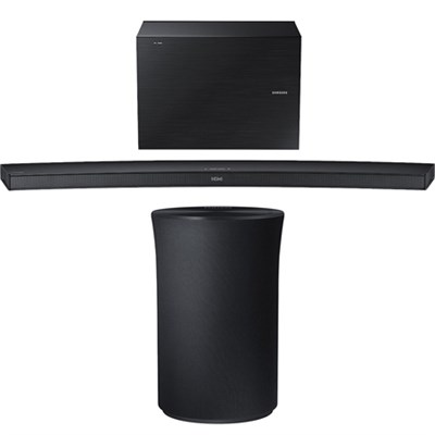 4.1 Channel Curved Wireless Audio Soundbar w/ Radiant 360 R1 Bluetooth Speaker