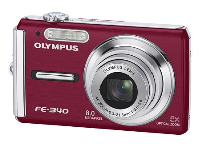 FE-340 8MP Digital Camera (Red)