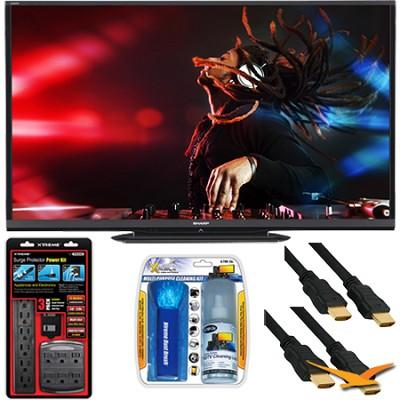 LC-80LE650U Aquos 80` 1080p WiFi 120Hz 1080p LED TV with Surge Protector Bundle